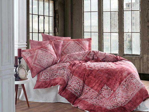 купить Постельное белье Сатин Принт Премиум - Dantela Vita Grace Brick Красный фото