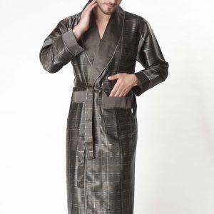 купить Мужской халат Nusa длинный без капюшона Бамбук