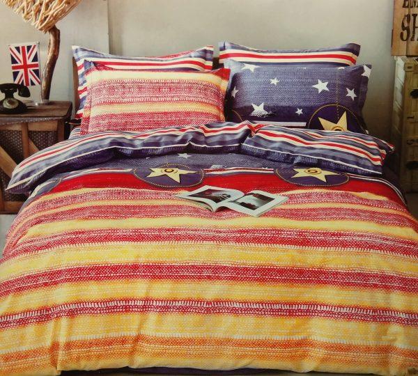 купить Постельное белье Сатин Люкс 40S 1618 Желтый|Красный|Синий фото