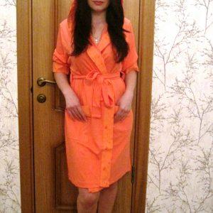 купить Женский халат Nusa трикотажн 8265 Кораловый