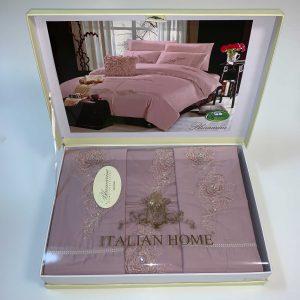 купить Постельное белье Italian Home Blumarine Pudra Розовый фото