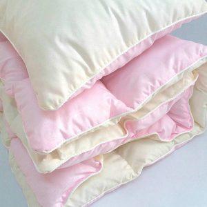 купить Детское одеяло и подушка розовый Розовый фото