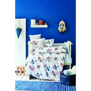 купить Детский набор в кроватку для младенцев Karaca Home - Airship Mavi 10 Предметов Голубой фото