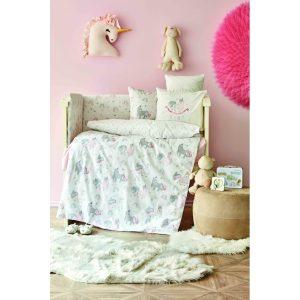 купить Детский набор в кроватку для младенцев Karaca Home - Digna Pembe 10 Предметов Зеленый фото