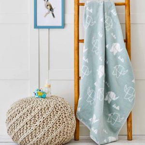 купить Детский плед в кроватку Karaca Home - Geometric Elephant