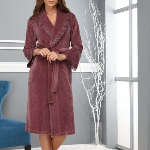 купить Женский халат Nusa длинный без капюшона 0359 Murdum