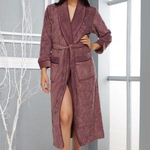 купить Женский халат Nusa длинный без капюшона 8525 Murdum