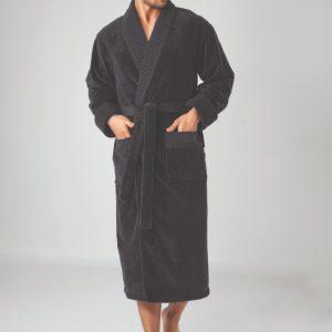 купить Мужской халат Nusa длинный без капюшона 2965 Черный