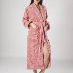 купить Женский халат Nusa длинный без капюшона 8650