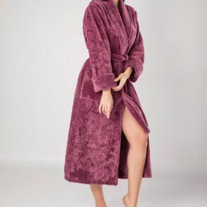 купить Женский халат Nusa длинный без капюшона 8650 лиловый