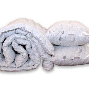 купить Одеяло лебяжий пух Cotton и 2 подушки 50х70