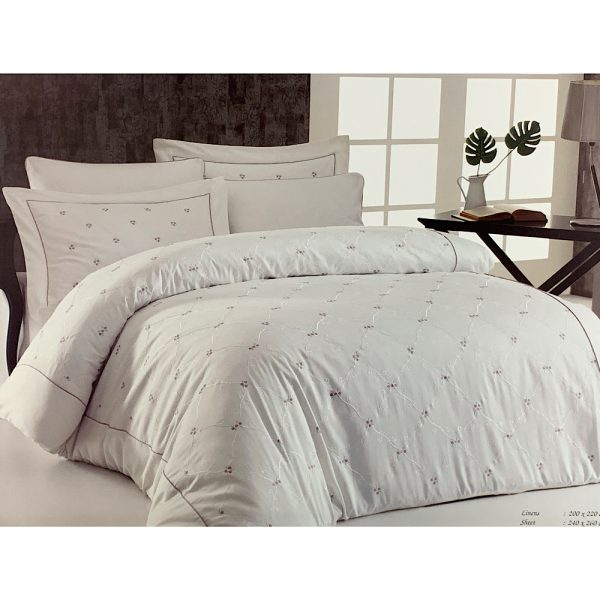 купить Постельное белье Maison Dor JUANNA ECRU-DARK-LILAC Кремовый фото 3