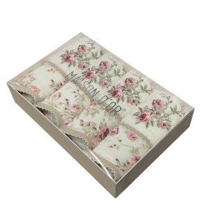 купить Набор бамбуковых полотенец Maison Dor LADY ROSES ECRU 4