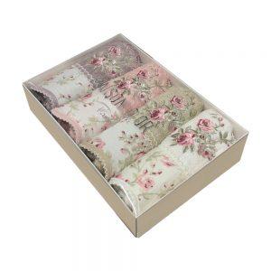 купить Набор бамбуковых полотенец Maison Dor LADY ROSES MIX 4