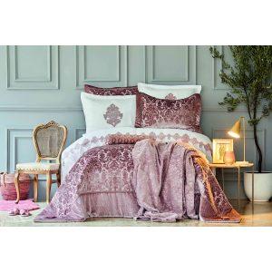 купить Постельное белье с одеялом Karaca Home - Volante Gkurusu 11 Предметов Розовый фото