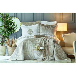 купить Постельное белье с одеялом Karaca Home - Volante Gold Золотой 11 Предметов Золотой|Бежевый фото