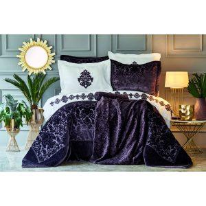 купить Постельное белье с одеялом Karaca Home - Volante Murdum 11 Предметов Фиолетовый фото