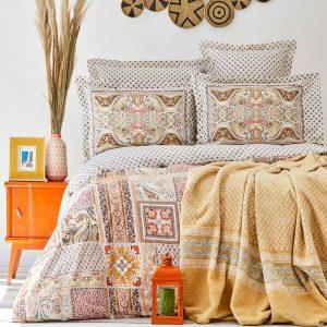 купить Постельное белье с пледом Karaca Home - Adonita Turuncu Оранжевый фото