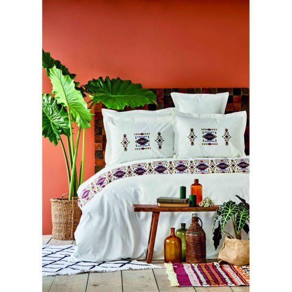 купить Постельное белье Karaca Home Ранфорс - Samsa Kiremit Белый фото