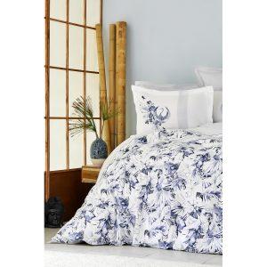 купить Постельное белье Karaca Home Ранфорс - Teru Mavi Фиолетовый фото