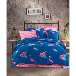 купить Постельное белье Lotus Home Perfect Ranforce - Flamingo Синий фото