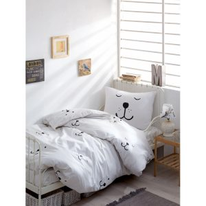 купить Постельное белье Lotus Home Perfect Ranforce - In Love Белый фото