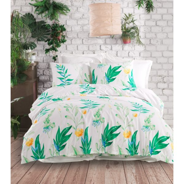 купить Постельное белье Lotus Home Perfect Ranforce - Inya Зеленый фото