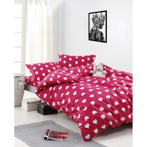 купить Постельное белье Lotus Home Perfect Ranforce - Love Красный фото