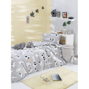 купить Постельное белье Lotus Home Perfect Ranforce - Meow Серый фото