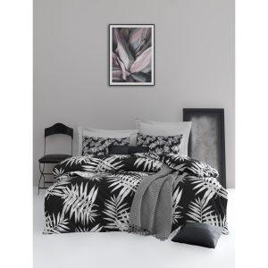 купить Постельное белье Lotus Home Perfect Ranforce - Palm Черный фото