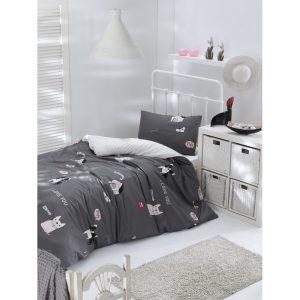 купить Постельное белье Lotus Home Perfect Ranforce - Woof Серый фото