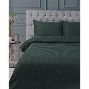 купить Постельное белье Lotus Отель - Сатин Страйп Изумруд 1*1 Зеленый фото