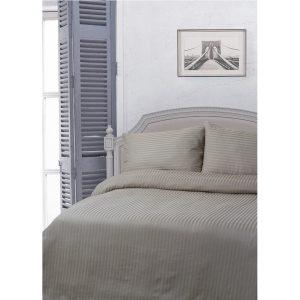 купить Постельное белье Lotus Отель - Сатин Страйп 1*1 Серый фото