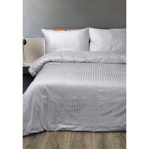 купить Постельное белье Lotus Отель - Сатин Страйп 1*1 grey Серый фото