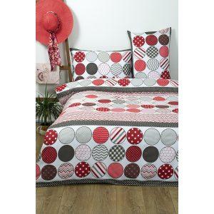 купить Постельное белье Lotus Ranforce - Maki Красный|Серый фото