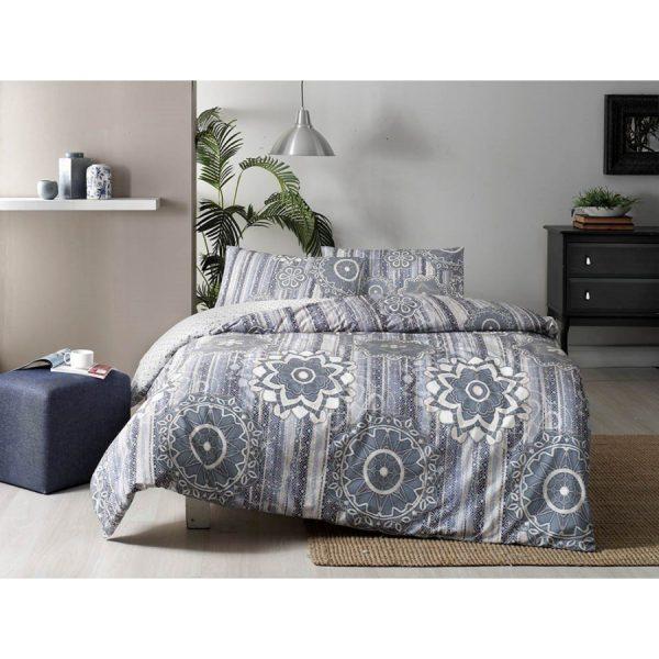 купить Постельное белье TAC Ранфорс - Abel Mavi V01 Голубой фото
