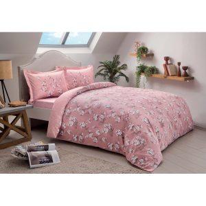 купить Постельное белье TAC Сатин - Lennie Pembe V02 Розовый фото