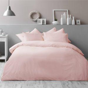 купить Постельное белье TAC Basic Pink Розовый фото