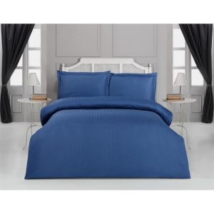 купить Постельное белье Arya однотонное Sole Темно-Синій Синий фото