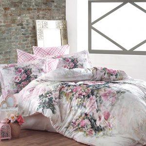 купить Постельное белье сатин принт премиум Dantela vita Esila Розовый фото