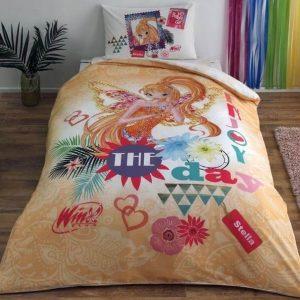 купить Детское постельное белье TAC Winx Stella Fairytale Желтый фото