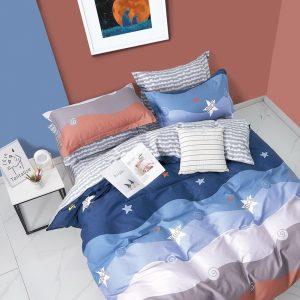 купить Постельное белье Bella Villa Сатин B-0287 Голубой фото