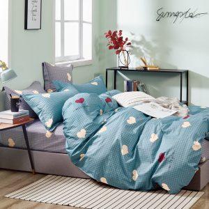 купить Постельное белье Bella Villa Сатин B-0291 Голубой фото