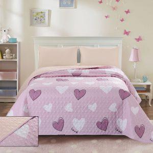 купить Покрывало стеганное ТМ Bliss С-0061 Розовый фото
