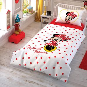 купить Детское постельное белье TAC Minnie Mouse Cek Красный фото