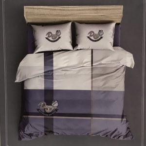 купить Постельное белье сатин принт 153343 Фиолетовый фото