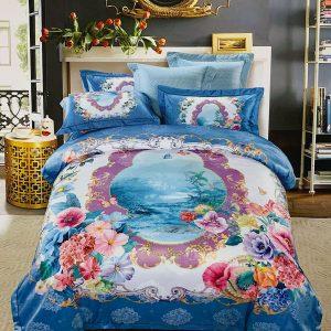 купить Постельное белье гобелен 143459 Голубой фото