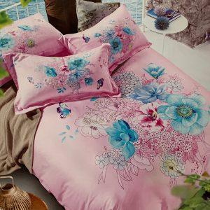 купить Постельное белье сатин делюкс 154289 Розовый фото