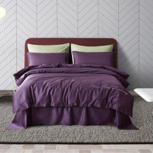 купить Постельное белье Bella Villa Сатин De Luxe T-0007 Фиолетовый фото