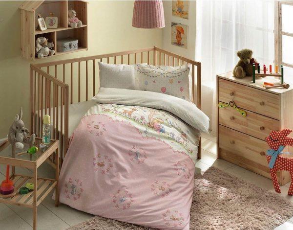 купить Детское постельное белье в кроватку TAC Organic Candy Розовый фото